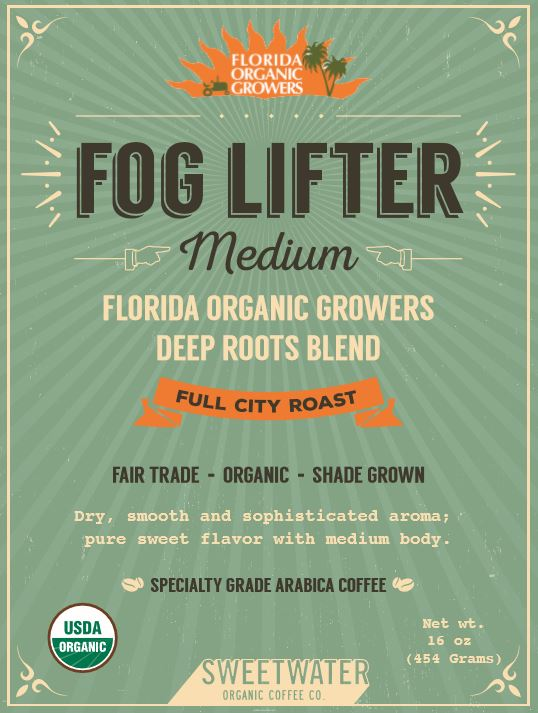 FOG LIFTER MEDIUM - FLORIDA ORGANIC GROWERS FULL CITY ROAST